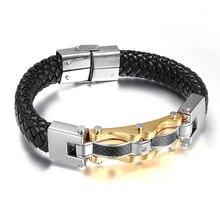 Распродажа высококачественные двухцветные браслеты из титановой
