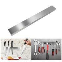 Stainless Steel Block Wall mounted Magnetic Knife Holder Double Bar Knife Rack for Kitchen Knives Utensils 40*4.5*1.5cm