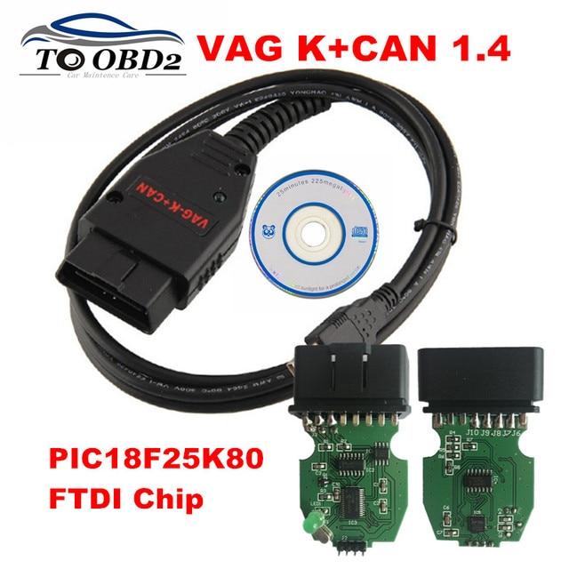 US $10 72 5% OFF|VAG K+CAN Commander 1 4 For VAG Series OBD2 Code Reader K  Line CAN BUS Protocols PIC18F25K80&FT232RQ VAG 1 4 L+CAN COMMANDER-in Car