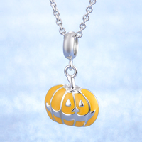 Halloween Pumpkin design nice quality hot sale product 925 sterling silver pendant necklace