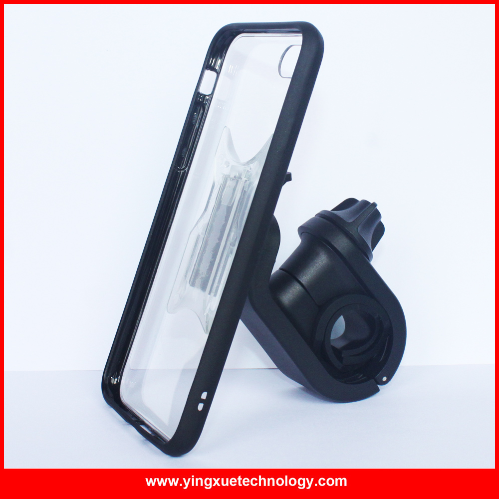 Bicycle Mount <font><b>Phone</b></font> <font><b>Holder</b></font> Bike Handle Bar Mount with ClipGrip Case and Rubber Band for <font><b>iPhone</b></font> 5/5S/SE/6/6S/6 Plus/7/7 Plus