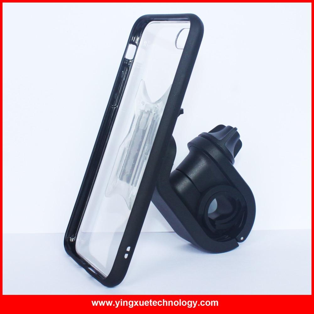 imágenes para Montaje de la bicicleta soporte para teléfono bicicleta mango bar monte con clipgrip caso y banda de goma para iphone 5/5s/se/6/6 s/6 plus/7/7 más