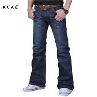 High Quality New Winter Male Casual Business Flare Jeans Men S Loose Mid High Quality Boot