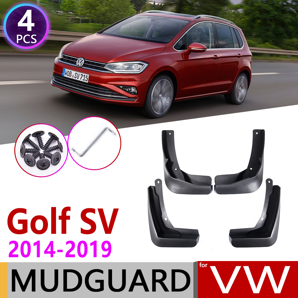 For Volkswagen VW Golf Sportsvan SV 2014~2019 Mk7 2014~2019 Mudflap Fender Mud Guard Mudguards Accessories 2015 2016 2017 2018