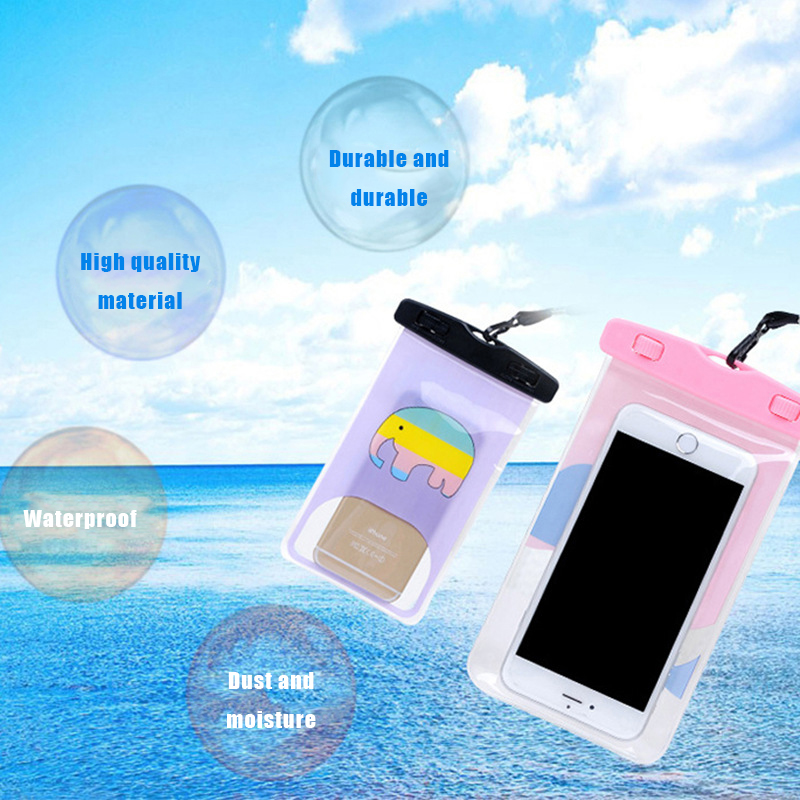 GerTong Lovely Cartoon Animal Waterproof Phone Pouch Case For iPhone X Underwater Portable Bag For Samsung Galaxy S8