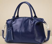 2016 Fashion Genuine Leather Casual Women Tote Handbag Big Size, Simple design European American Fashion, 6 colors