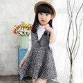 Girls Sleeveless Dress Autumn School Wear Dress Big Sizes Teenagers Baby Girls Children Clothing 3 4 5 6 7 8 9 10 11 12 13 Years