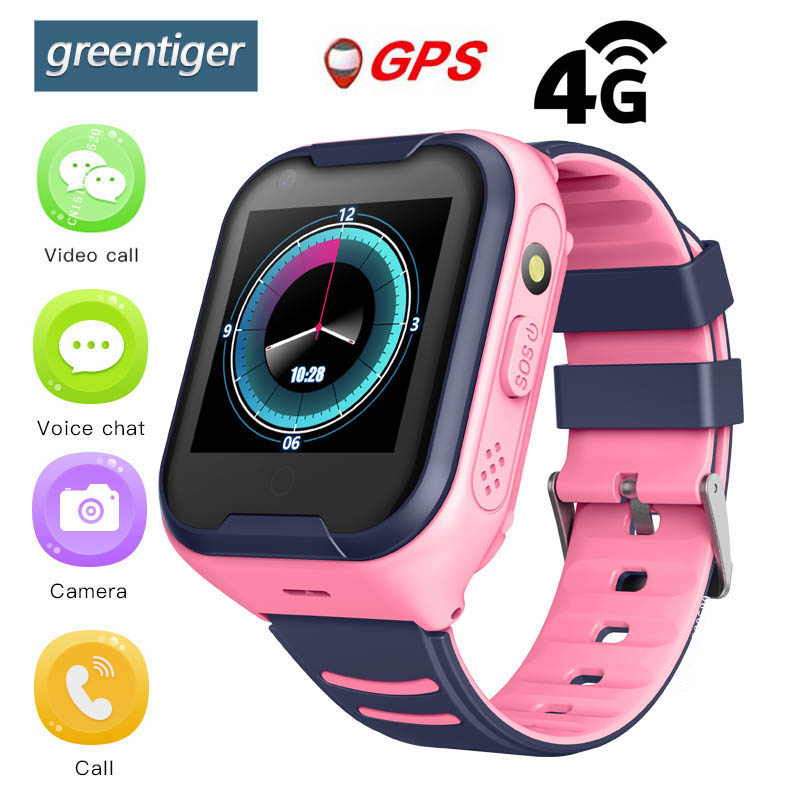 Greentiger 4G Network A36E Wifi GPS SOS Smart Watch Kids Video call IP67 waterproof Alarm Clock