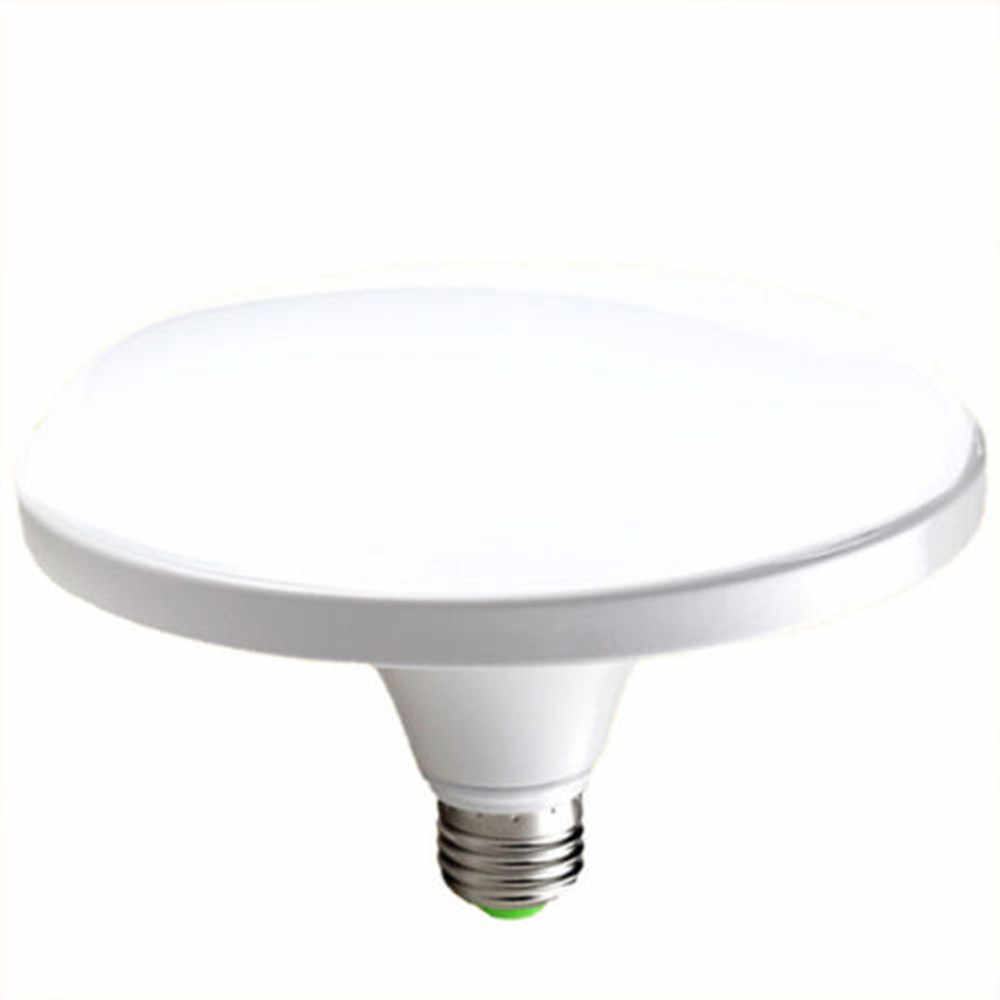 White Shell E27 UFO LED Lamp 15W 18W 24W 36W 50W 60W 70W Energy Saving Flat Light Bulb for Home Lighting