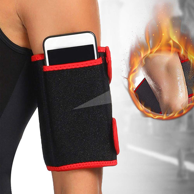 1 Pair Arm Trimmer Belt Sweat Fat Burn Weight Loss Workout Slimming Band Neoprene Body Arm Shaper Warmers Slimmer for Men Women 2