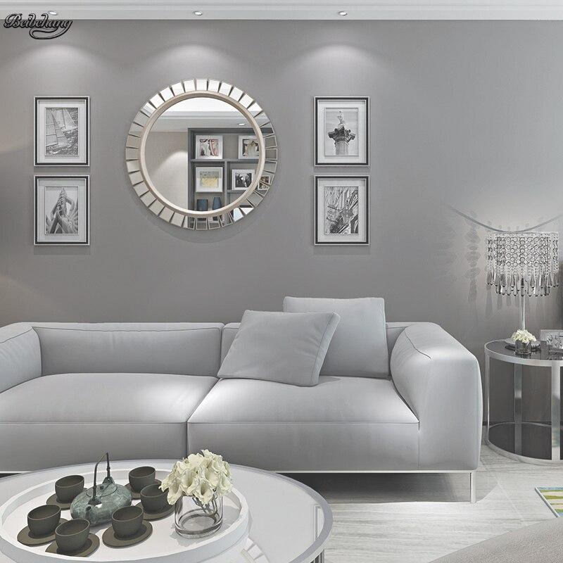 beibehang papier peint intisse en fibre longue gris fonce fond de television simple et moderne pour salon chambre a coucher