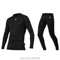 Free shipping Breathable Fleece Lined Thermal Underwear racing Set Motorcycle Layer Winter Summer Long Shirts Tops base Suit