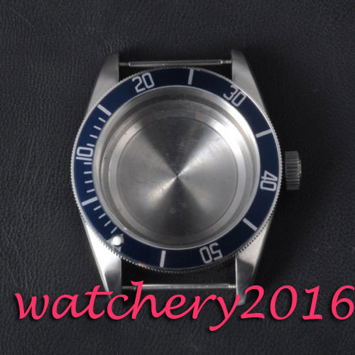 где купить 41mm Corgeut sapphire glass High quality hardened stainless steel blue bezel case fit eta 2824 2836 movement Watch case по лучшей цене