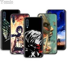anime Attack On Titan girl Soft Phone Cases for Samsung Galaxy A10 A20 A30 A40 A50 A70 A6 A7 A8 Plus A9 M30 M20 Black Case Cover(China)