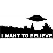 CS-481#10*22.1cm  The X-Files. I want to believe funny car sticker and decal silver/black vinyl auto stickers