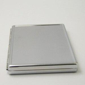 Image 3 - 4Pcs  Blank 20 Cigarette Box Case Stainless Steel Tobacco Tube Storage Pocket Box Holder Handy Portable DIY  Free Shipping