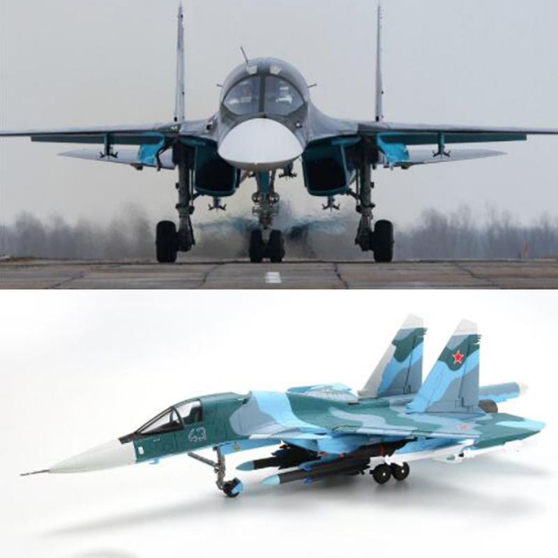 1 72 scale Soviet Union Navy Army Su34 fighter aircraft Russia airplane models adult children toys