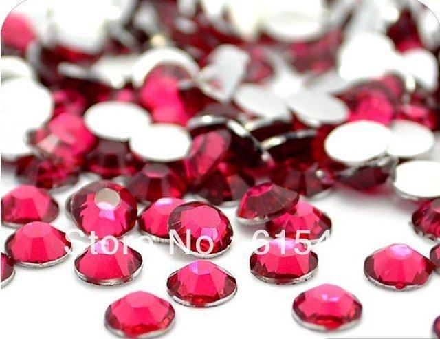 6mm ROSE Color SS30 rhinestones de la Resina cristalina flatback, Envío Libre 10,000 unids/bolsa