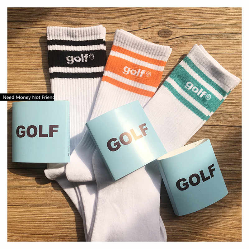 22dafbdfd9ec Golf WANG SOCKS men women socks hip hop gift harajuku high street casual  Cotton Crew cool