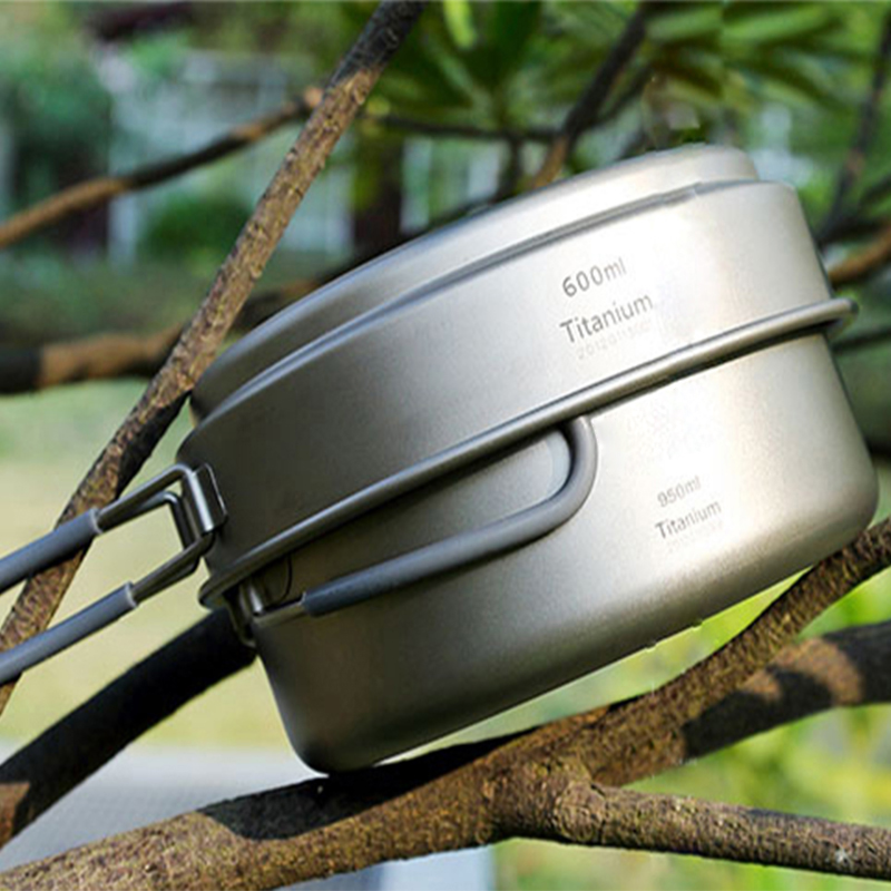 Keith Camping Cookware Titanium Pots Set Camping Traving Hunting Hiking Picnic Cooking Utensils Lightweight Ti6016 w/ Mesh Bag keith ti1600 lightweight titanium hanging chains diy 100pcs accessories