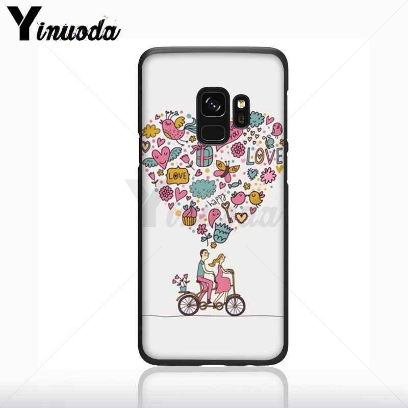 Yinuoda vida é gostar de um passeio de bicicleta cão Macio Caso de Telefone de silicone preto Para Samsung Galaxy s9 s8 mais note9 s10plus Capa