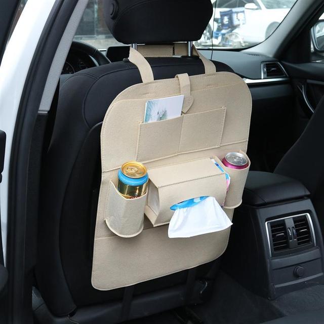 VORCOOL Auto Car Back Seat Storage Bag Car Seat Cover Organizer Holder Bottle Box Magazine Cup Phone Bag Backseat Organizer