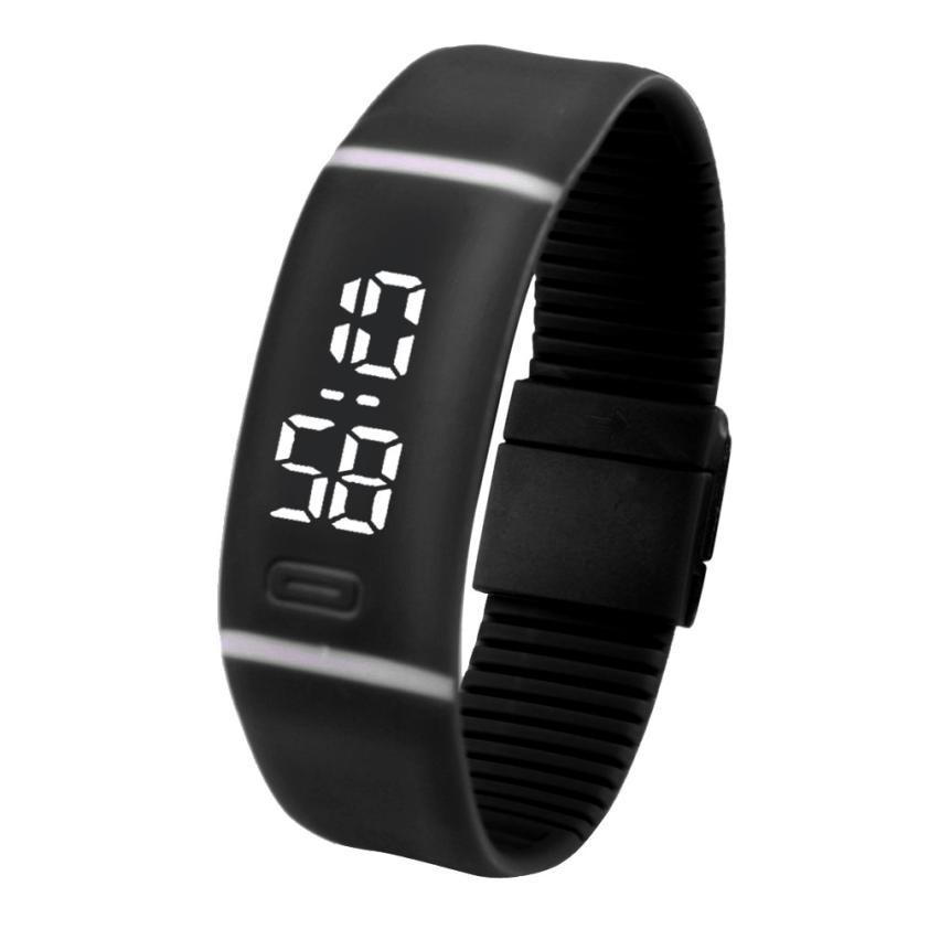 Digital Watch Men Women Relogio Sport Digital LCD Pedometer Running Step Walking Distance Calorie Counter Watch Bracelet 2018