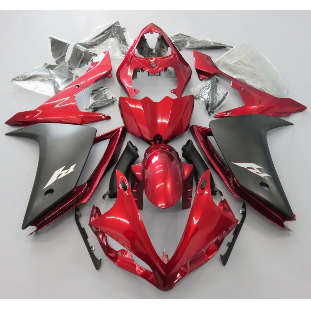 Motorcycle Injection Molding <font><b>Fairing</b></font> Kit For <font><b>Yamaha</b></font> YZF <font><b>R1</b></font> YZF-<font><b>R1</b></font> <font><b>2007</b></font> 2008 YZFR1 YZF1000 07 08 Bodywork <font><b>Fairings</b></font> Red UV Painted image