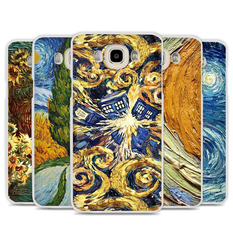 Van Gogh Tardis Handy-fallabdeckung für Samsung Galaxy J1 J2 J3 J5 J7...
