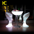 Chargeable Remote Control Illuminated LED Bar Cocktail Table Outdoor  Pub Glowing Plastic Tables