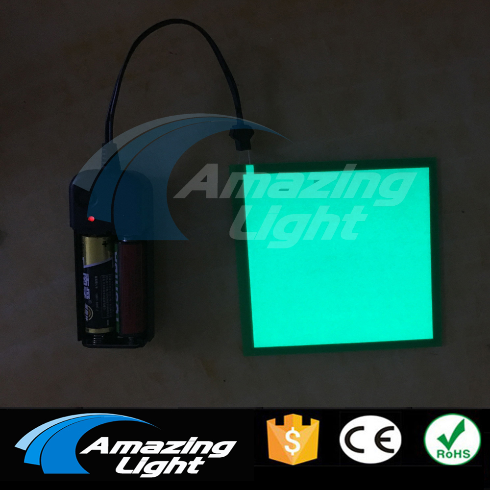 10pc/lot 10X10CM El panel electroluminescent panel Led Board Display with Inverter with  inverter