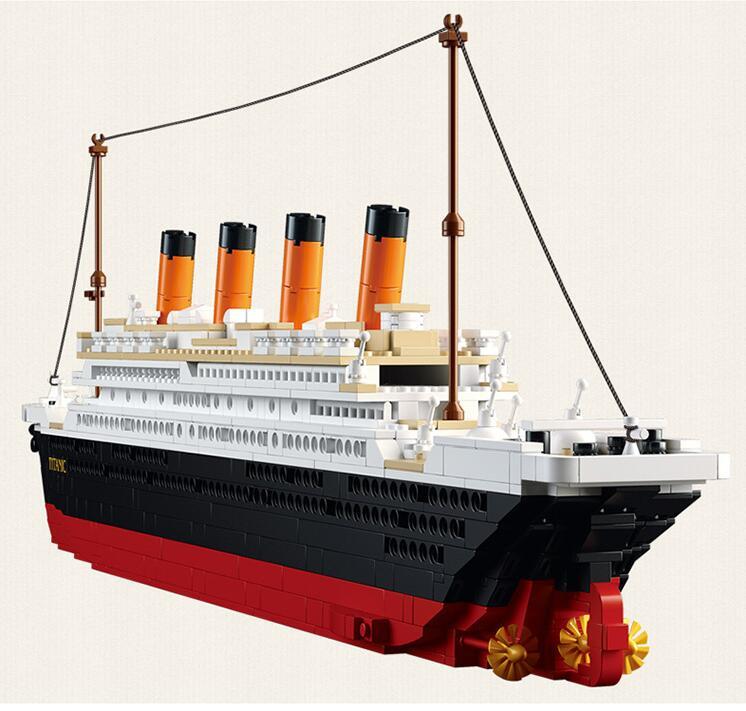ФОТО Sluban New 1021PCS B0577 Building Blocks Toy Cruise Ship RMS Titanic Ship Boat 3D Model Educational Gift Toy  brinquedos DIY