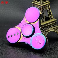 LED Tri Style Gyro Cool Zinc Alloy Luminous Fidget Relieving Finger Spinner USB Electronic Cigarette Lighter