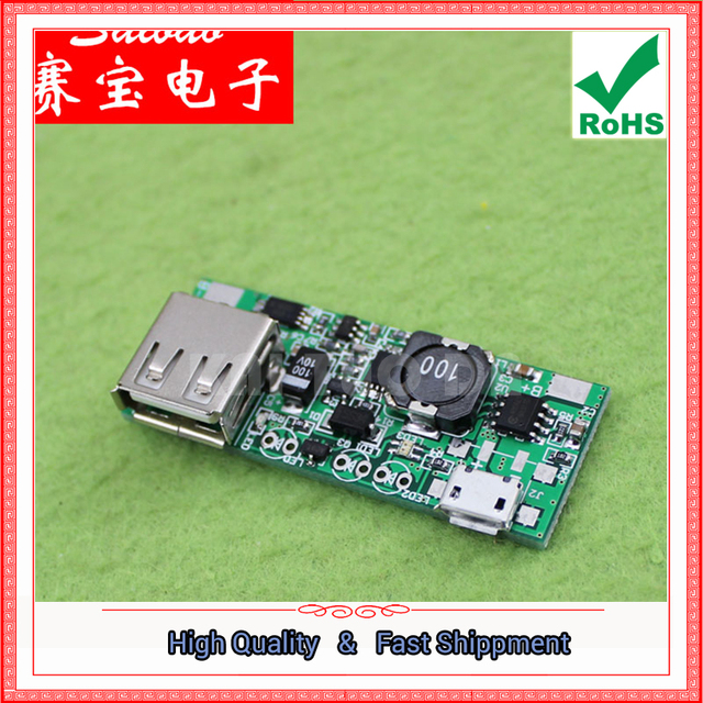 US $10 02 5% OFF|3pcs mobile power supply module chip 5V step up boost  board with identification module phone charging MICRO interface booster-in