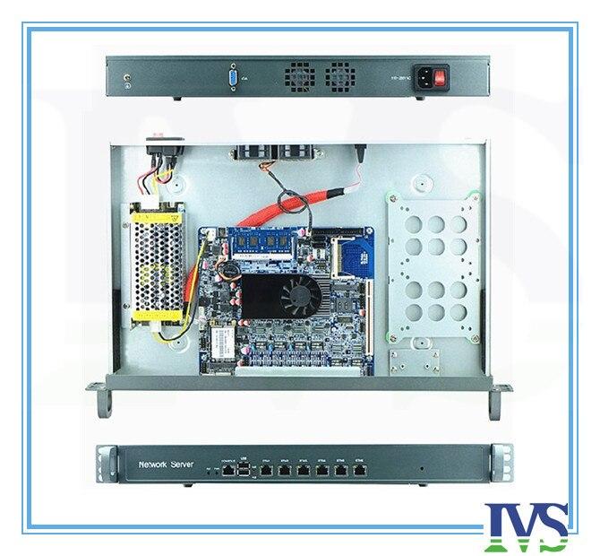 Высокая стоимость эффективным 1U маршрутизатор/сервер брандмауэр с Atom D525, 6 * Intel 82583 В 1000 Мбит/с Lan MB, 120 Вт PSU