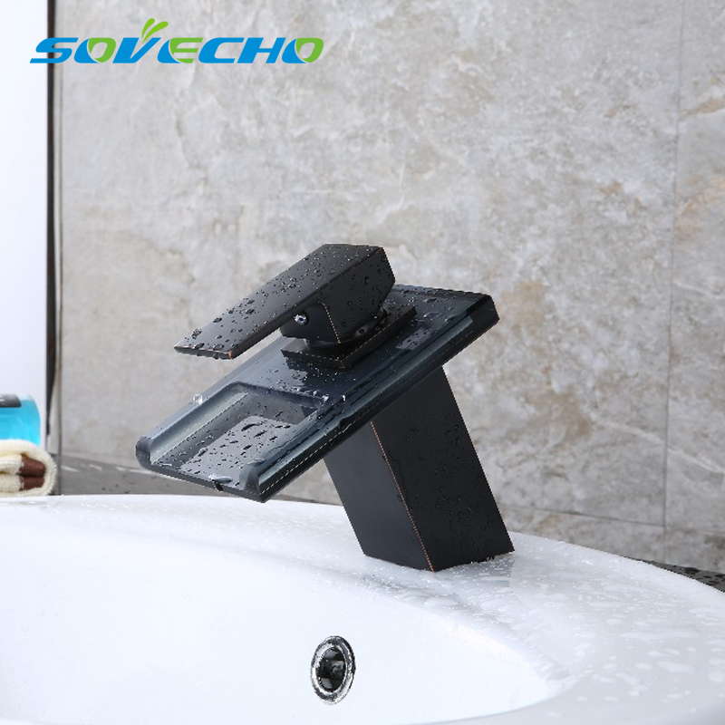 SOVECHO Free Shipping 3 LED Color Changing Waterfall Bathroom Faucet Vanity Sink Mixer Tap Oil Rubbed Bronze X7008SOVECHO Free Shipping 3 LED Color Changing Waterfall Bathroom Faucet Vanity Sink Mixer Tap Oil Rubbed Bronze X7008