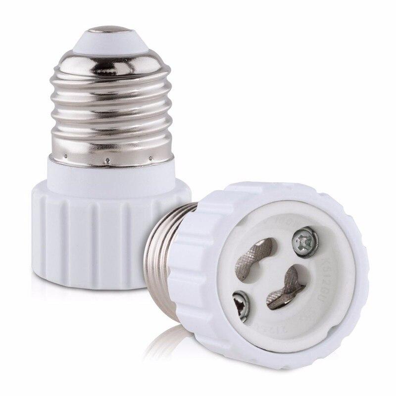 30pcs New E27 to GU10 Converter Socket LED Light Lamp Bulb Adapter Adaptor Screw Socket fast shipping