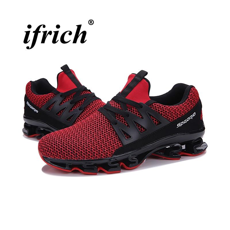 Плюс Размеры Для мужчин кроссовки дышащая Спортивная обувь Кроссовки черный, красный Для мужчин S-спортивная обувь Для мужчин s кроссовки ды...