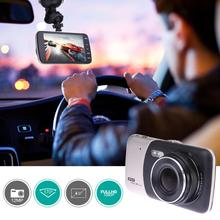 "4 ""1080 P FHD Car DVR con Due Telecamere Auto Digital Video Recorder Dashcam Dash Cam Automotive Dual Lens di Visione notturna Videocamera"