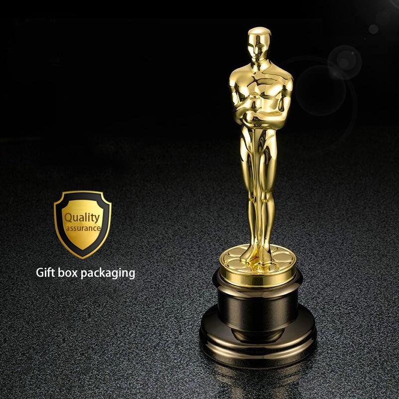 Free DHL shipment 1 1 Oscar Statue Metal Figurines Oscar Trophy Awards Prize In Metal Oscar
