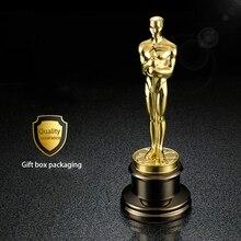 Бесплатная DHL отправка 1:1 Oscar Статуя металла статуэтки Оскар трофей награды приз в металла Оскар Craft