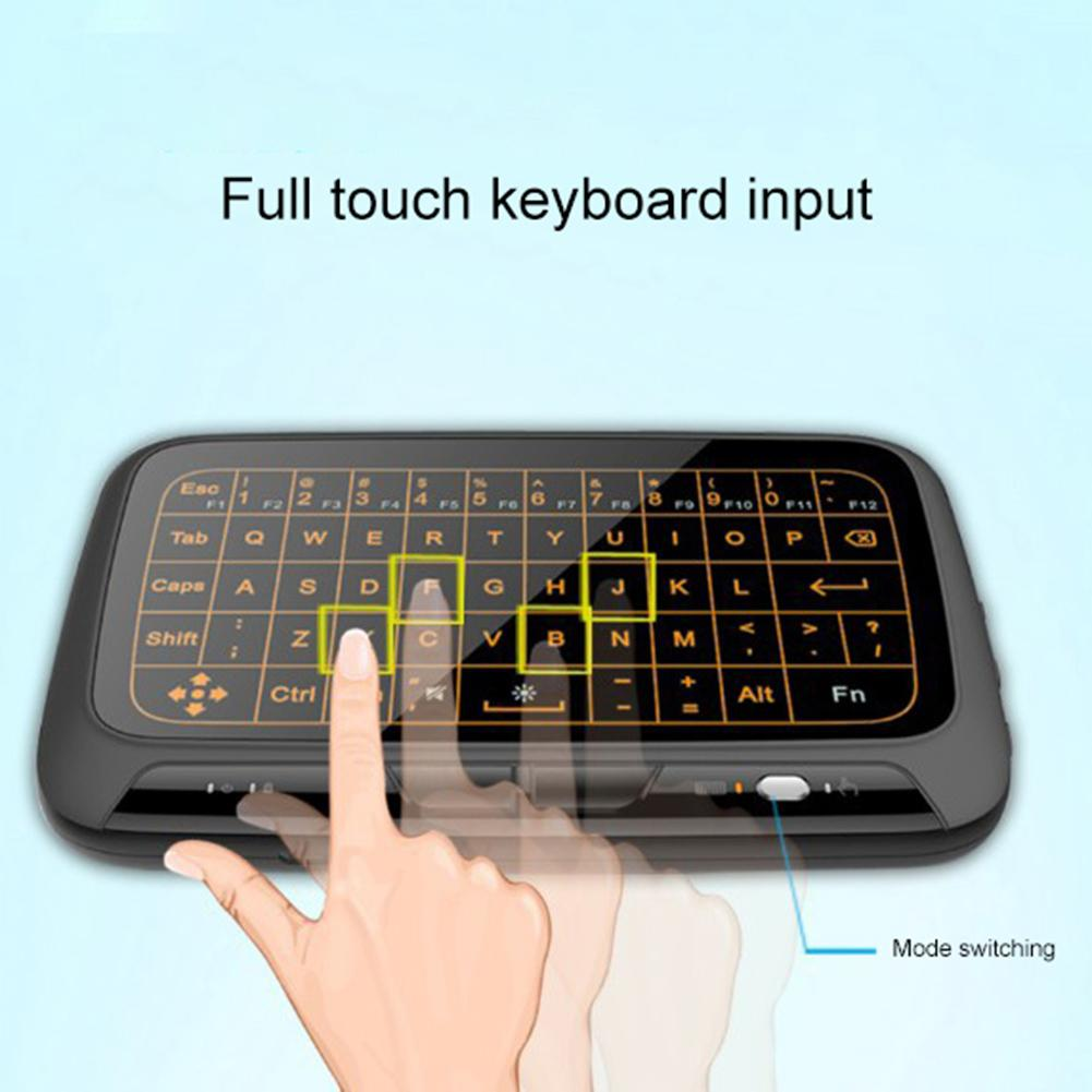 Backlight Wireless 2.4G Touchpad Keyboard Wireless Air Mouse for Smart TV Android Box PC Remote Controller-in Keyboard Mouse Combos from Computer & Office