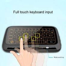 лучшая цена Backlight Wireless 2.4G Touchpad Keyboard Wireless Air Mouse for Smart TV Android Box PC Remote Controller