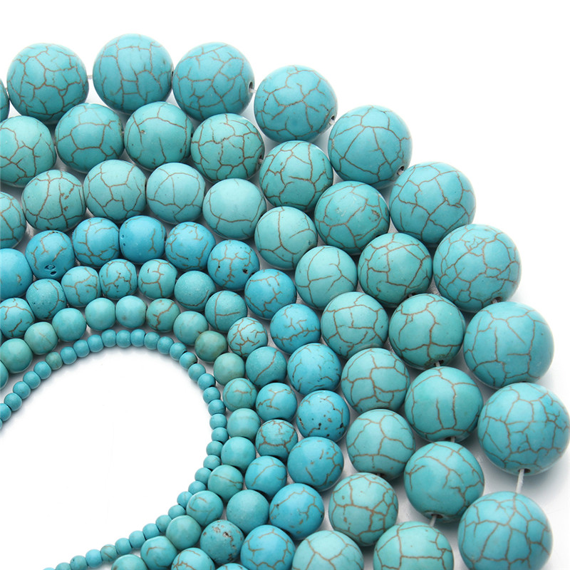 1 String Natural Stone Round <font><b>Bulk</b></font> Loose Spacer <font><b>Beads</b></font> 3-20mm Multi Size for DIY Beaded Necklace Bracelet Jewelry Making F359 image