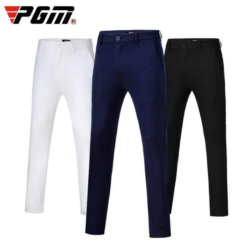 2019 新 PGM ゴルフパンツ男性春秋スリムゴルフズボンの男快適弾性レジャースポーツのズボン紺白パンツ