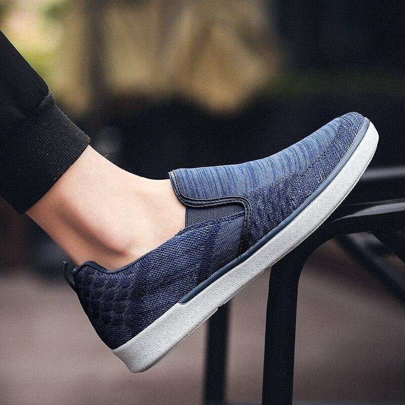 CYYTL Performance Men's Loafers Soft Flyknit Slip-On Walking Shoes Spring Casual Male Sneakers Zapatos de Hombre Erkek Ayakkabi (27)