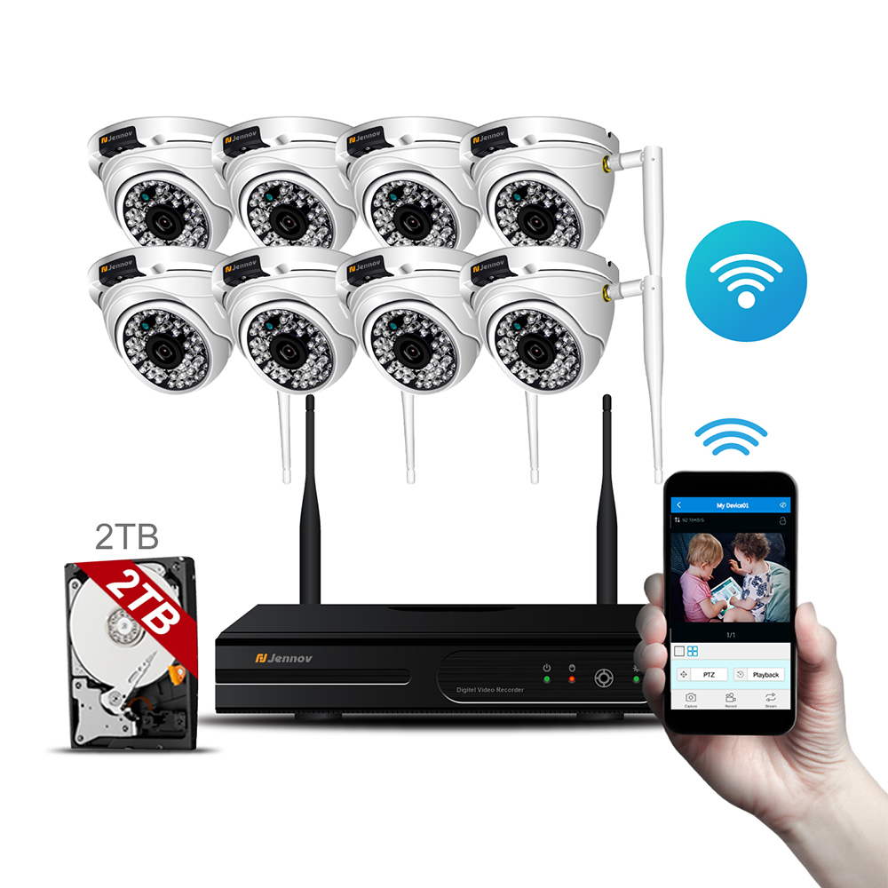 8CH HD 960P Wireless Home Security Camera System With NVR Wifi Ip Kit CCTV Set Dome Outdoor Video Surveillance Wi-fi Ipcam 8ch cctv kit 960p home wireless cctv security camera system with nvr hd wifi video outdoor surveillance kit app remote view