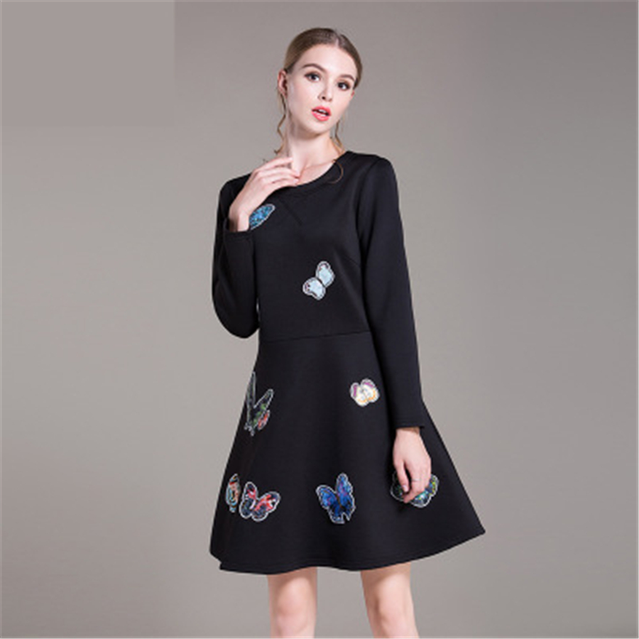 Womens Maternity Dresses Long Clothes For Pregnant Women Print Black Soft Polyester Big Size Women Clothes Dresses 70R0121