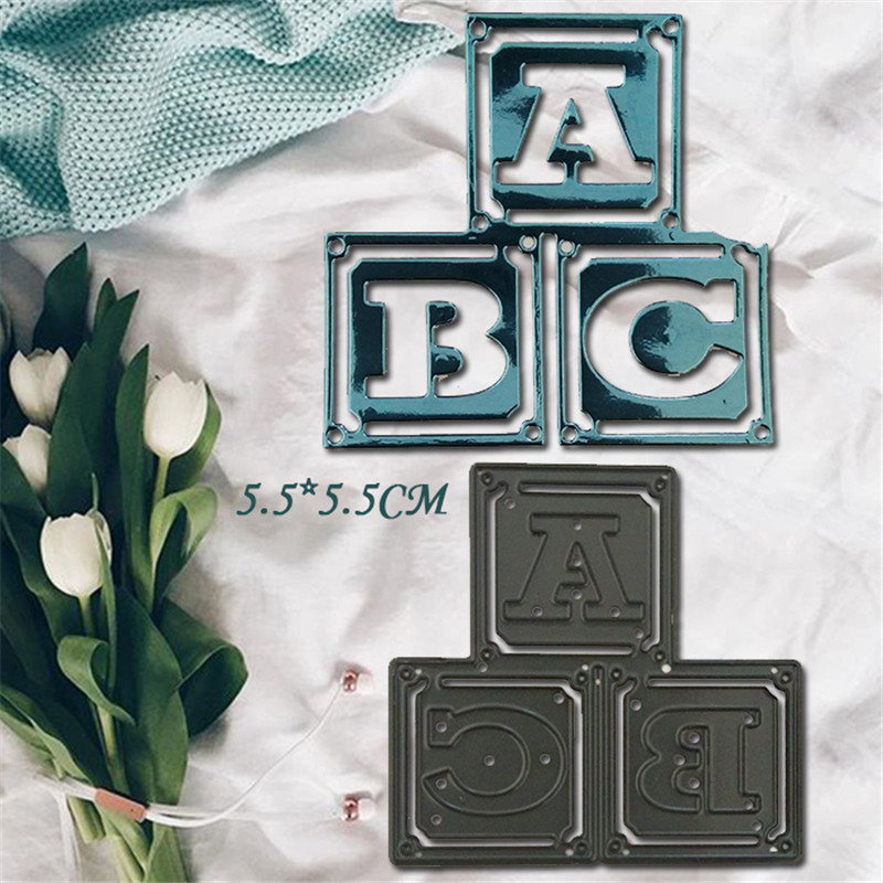 Letter Metal Die Cutting Scrapbooking Embossing Dies Cut Stencils Decorative Cards DIY album Card Paper Card Maker polygon hollow box metal die cutting scrapbooking embossing dies cut stencils decorative cards diy album card paper card maker