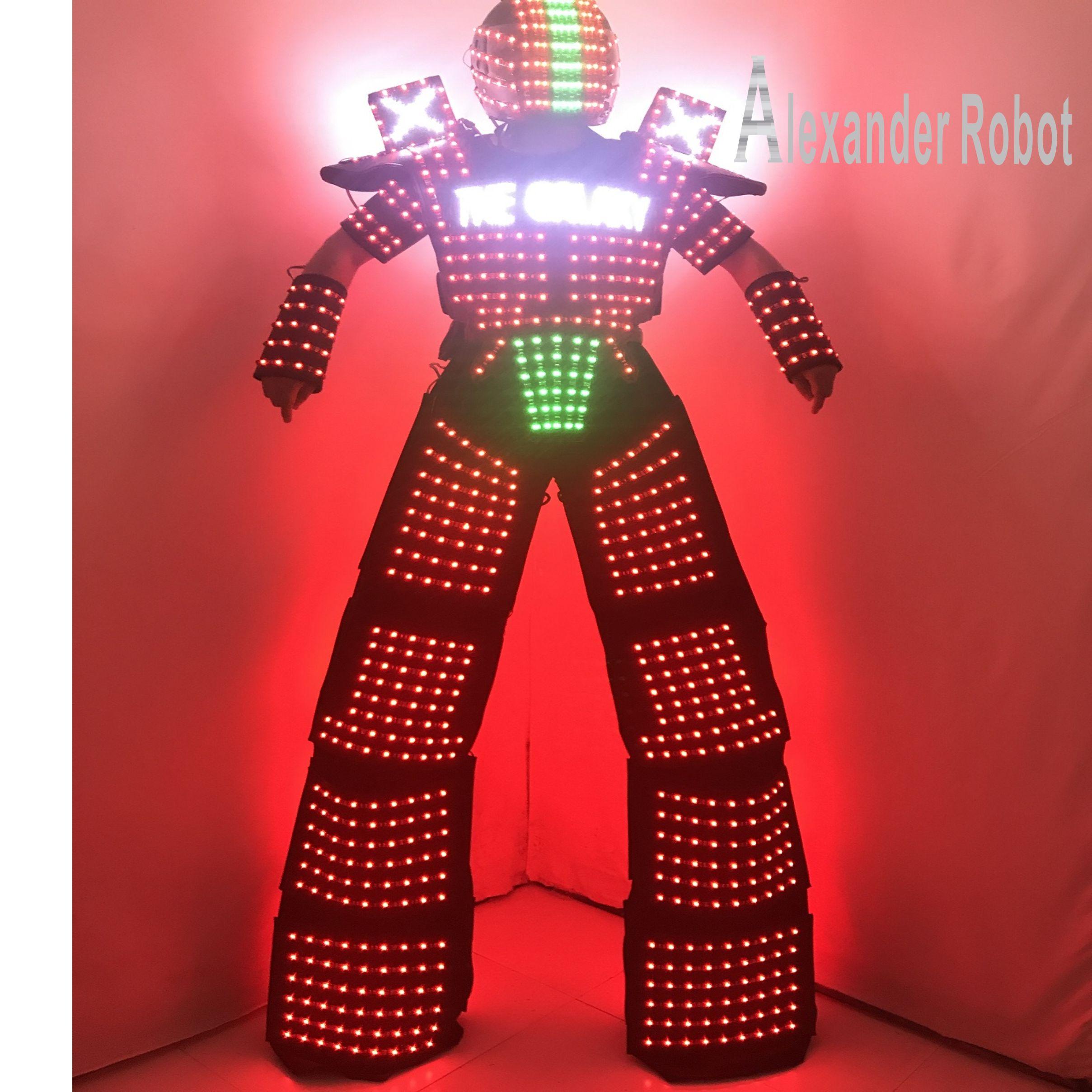زي LED / ملابس LED / بدلات خفيفة / بدلات روبوت LED / بدلة مضيئة / بدلة ألكساندر الآلية